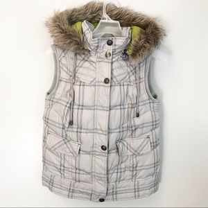 Women's Fur Hooded Vest